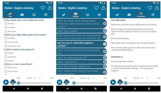 Listen English Daily Practice App