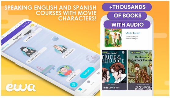 ewa learning english and spanish app
